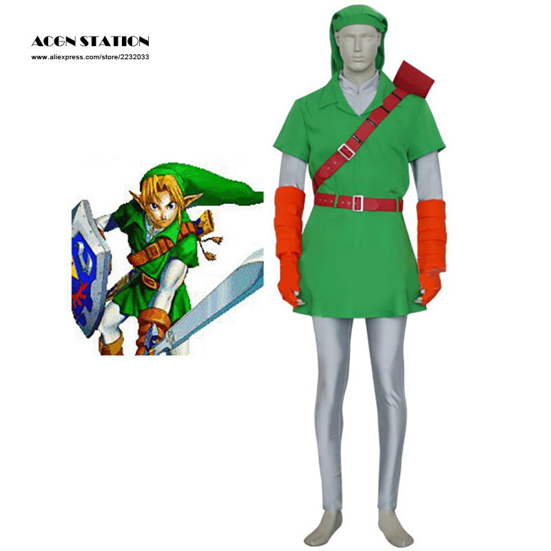 2018 Customize for adults and kids Free Shipping Forest Green The Legend of Zelda Link Cosplay Costume for Halloween Party brauberg ежедневник select недатированный 160 листов цвет черный формат a5