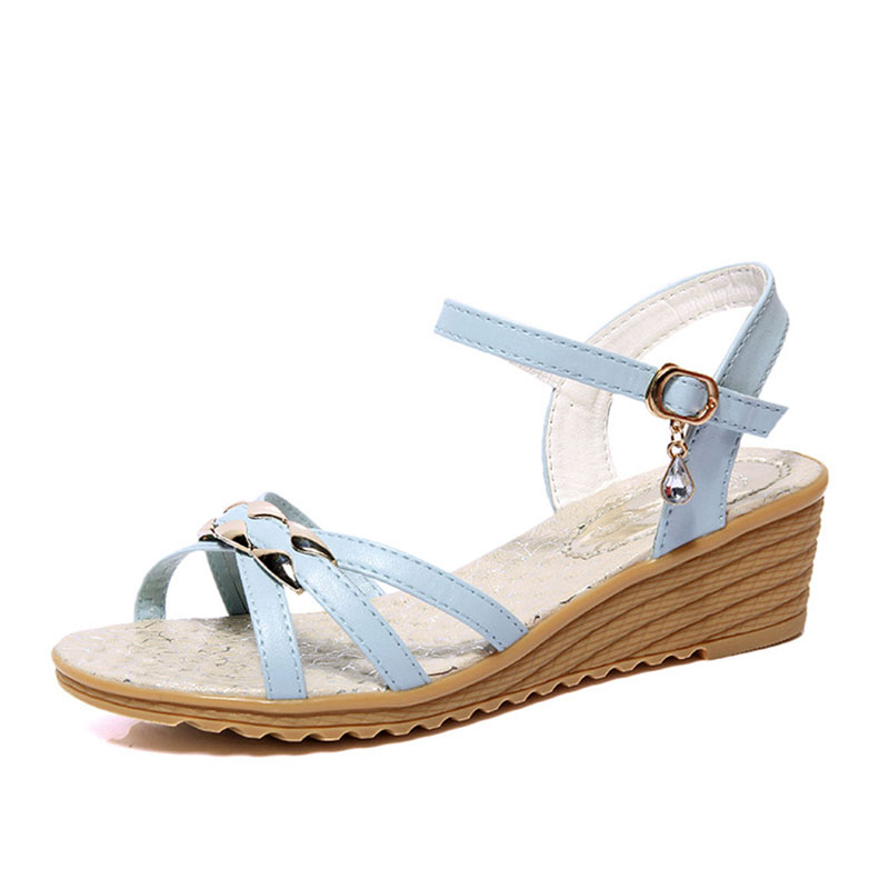 Summer Style Women Sandals Wedge Female Sandals High Platform Wedges Platform Open Toe Platform Casual Shoes hot 2018 summer new fashion women sandals wedges shoes high heel sandals platform open toe buckle casual shoes