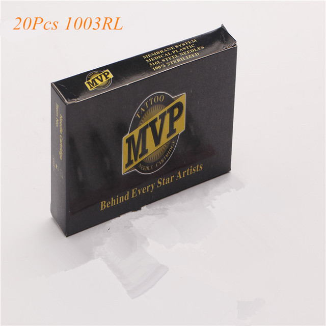 Transparent Tattoo Needles With Membrane System 20Pcs/Lot 1003RL BugPin Round Liner Tattoo Needles
