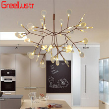 цены Art Decorate Tree Branch Led Pendant Light Acrylic Leaf Hanging Lamp Lustre For Living Room Art Decor Pendant Lamp 110V/220V