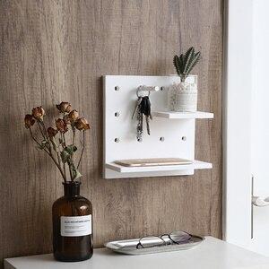 Image 2 - Plastic Wall Mounted Storage  White Wall Shelf Elegant Rack Fashion Simple Display Storage Rack Ornament Holder Home Decoration