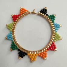 Shinus 10Pcs/lot Miyuki Accessories Fit MIYUKI Earrings Bohemian Summer Beach Rainbow Jewelry Colorful Handmade Bijoux Boho Chic