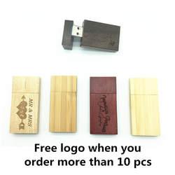 Лидер продаж (более 10 шт. свободный логотип) деревянный usb + коробка Флеш накопитель 8 ГБ 16 ГБ 32 ГБ usb Flash drive Memory Stick логотип клиента свадебный