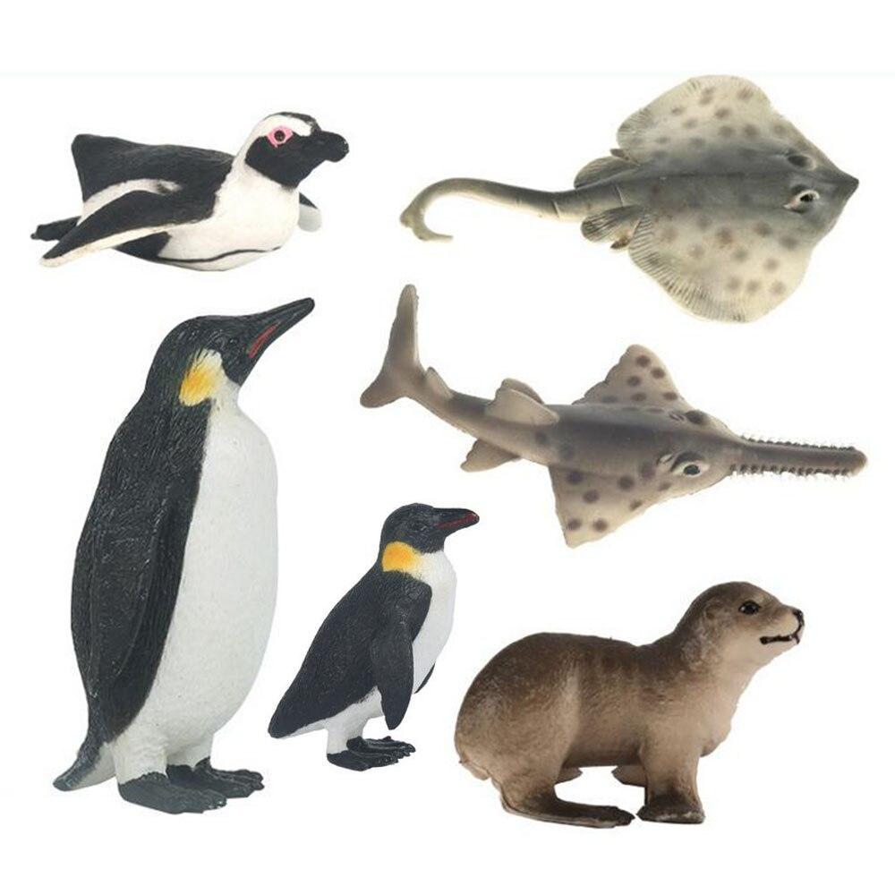 Wholesale Emulational Realistic Animal Model Penguin Sea Lion Plastic Figure toy for Boy Girl Educational toy