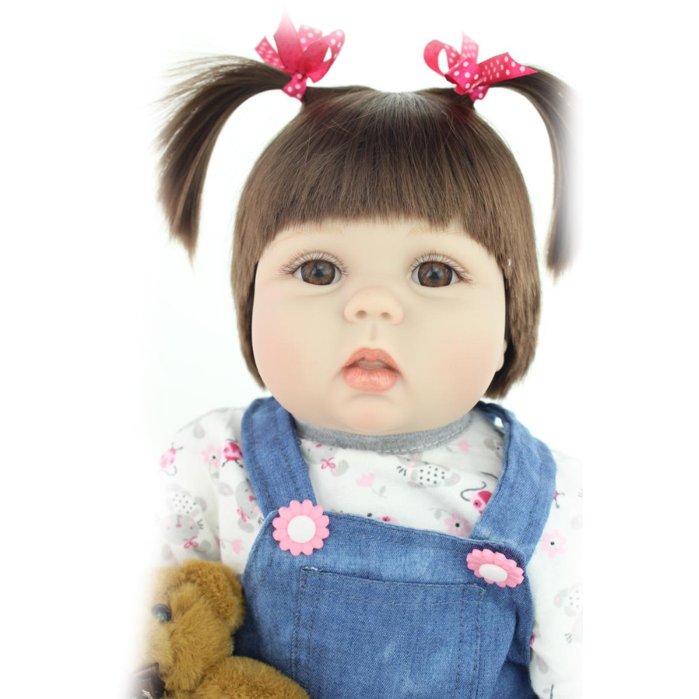 22 inch Girl Playmate Doll Super Realistic Simulation Baby Soft Body Lifelike Reborn Babies Toy  Menina Brinquedos for kid Gifts