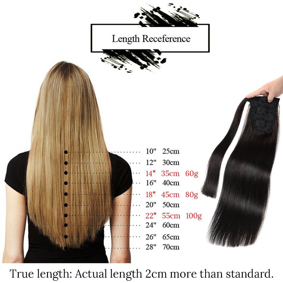 MRSHAIR 22 hüvelyk Szőke Emberi Haj Ponytails Extensions 120g Brown - Emberi haj (fehérre) - Fénykép 4