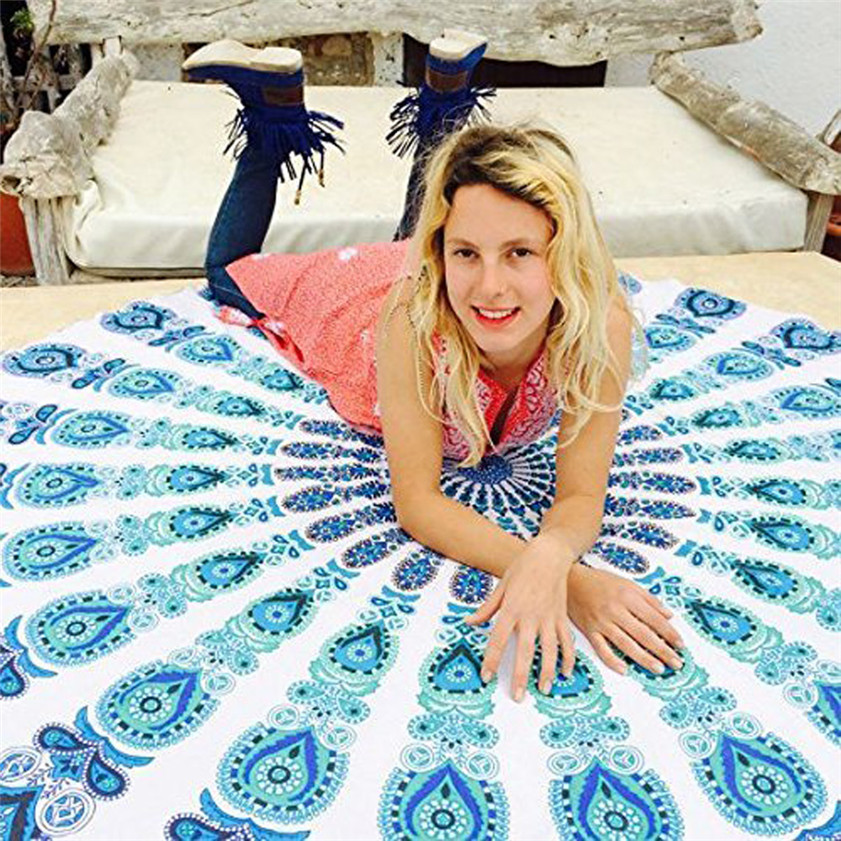 Free Shipping Table cover Home Deco High Quality Round Beach Pool Home Shower Towel Blanket Table Cloth Yoga Mat
