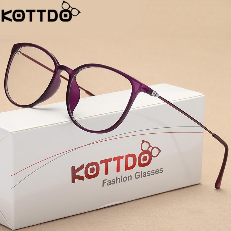 Optical Glasses Frame Women Light Metal Prescription Glasses Men Myopia Glasses Round Eyeglasses Lentes Opticos Mujer