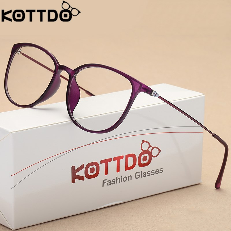 Optical Glasses Frame Women Light Metal Prescription Glasses Men Myopia Glasses Round Eyeglasses Lentes Opticos Mujer image