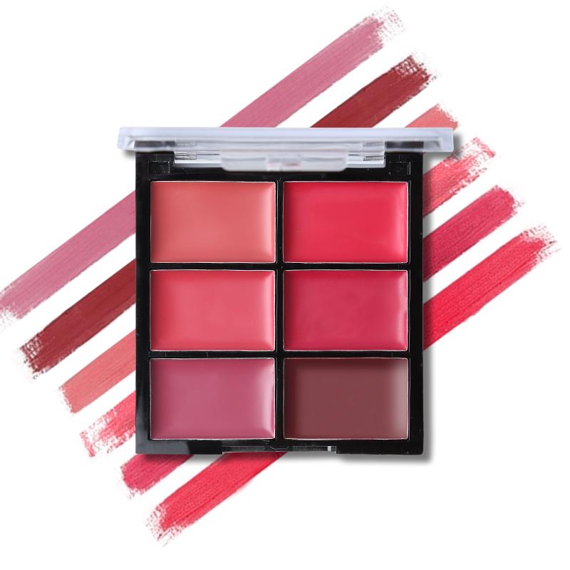 Women Beauty Makeup 6 Colors Matte Lipstick Palette Waterproof Nude Lip Stick Cream Moisturizer Sexy Batom Long-lasting Cosmetic 12