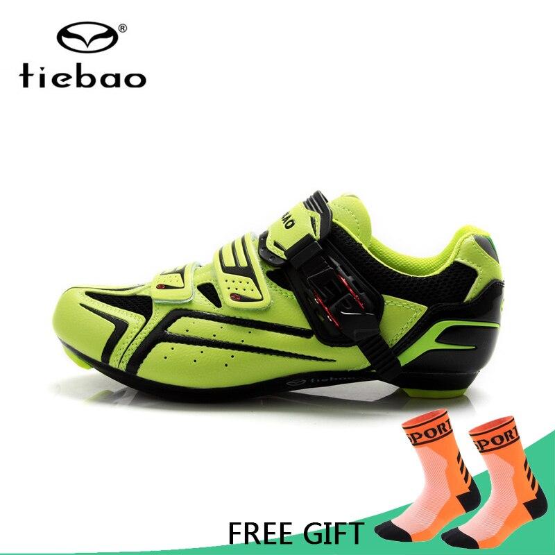 Tiebao Professional Road Bike Cycling Shoes Bicycle Athletic Racing Shoes AutoLock Shoes Nylon-Fibreglass zapatillas ciclismo стоимость