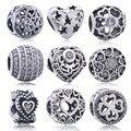 100% authentic 925 sterling silver amor corações charme beads fit pandora bracelet diy pingentes de jóias originais mulheres presentes da mãe