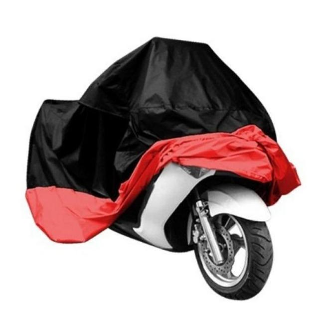 Polyester Motocycle Covers Red Black Mixed Color Motorbike Waterproof Dustproof UV Protective Cover #2620