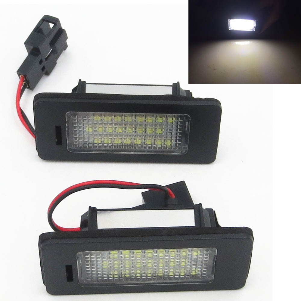 CYAN SOIL BAY number License Plate Light lamp 24SMD LED No Error For Audi A4 B8 S4 A5 S5 Q5 S TT quattro Error Free