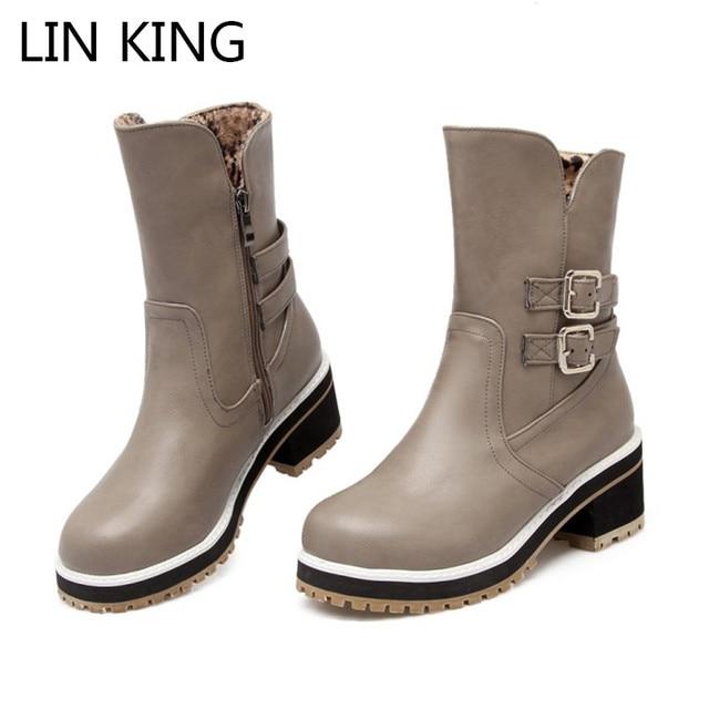les bottes d'hiver femmes bottes en cuir avec des bottes à talons martin zfUUwU