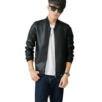 New Arrival Casual Mens Leather Suede High Quality Male Leather Jacket Famous Brand Red Leather Jacket Mens China Hot Sale