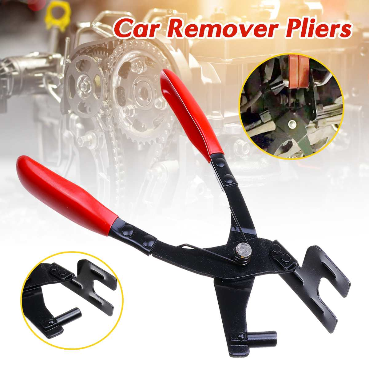 Car Exhaust Pipe Hanger Remover Pliers Removal Stretcher Repair Carbon Steel Exhaust Hanger Removal Pliers