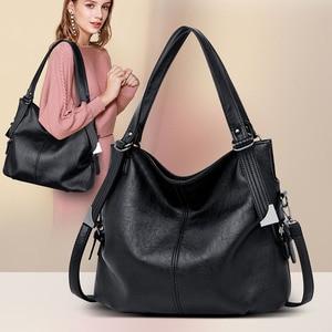 Image 1 - 2020 Large Capacity Women Messenger Bag Designer Women Bags Real Leather Luxury Ladies Shoulder Bag sac a main Lady Big Tote