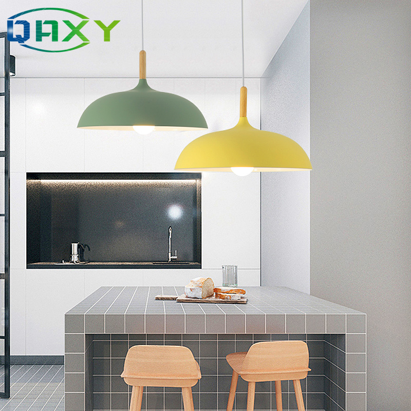 lowest price Included 12w LED Bulb As Gift Several Colors Dining Room Pendant Light Black Yellow Blue E27 Pendant Lamps For Bedroom Hotel