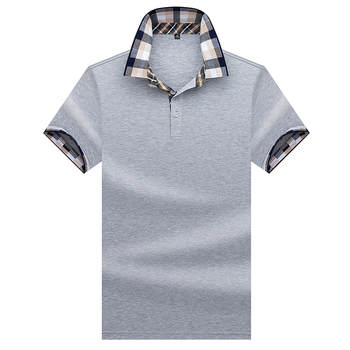High Quality Tops&Tees Men's Polo shirts Business men brands 3D embroidery Turn-down collar