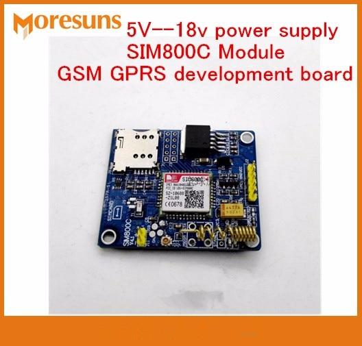 Fast Free Ship Global Availability 5V-18v Power Supply SIM800C Module SMS GSM GPRS Bluetooth-enabled Version Development Board