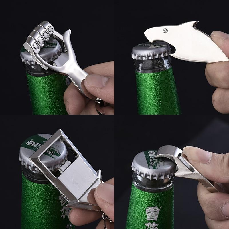 Акула ключ модель открывалка для бутылок Брелок Металлический цинковый сплав Подвеска для ключей ручной брелок в виде ступни подарок логотип на заказ 3 шт./лот