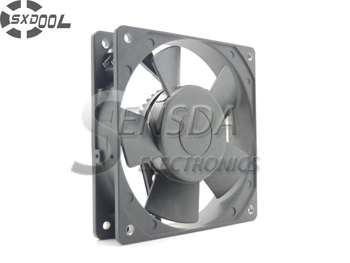 SXDOOL KA1225HA2 12cm 12025 220V metallram högtemperatur vattentät fläkt IP55
