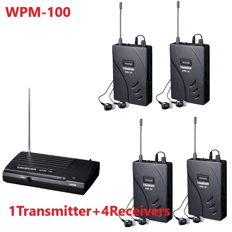 Upgraded Takstar wpm 100 wpm100 UHF Stage Wireless Monitor System In Ear earphone Wireless Stereo 1