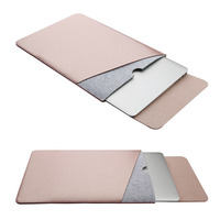 Double Layer Wool Felt Ploy Urethane Laptop Bag Sleeve Cover Case 11 13 15 Inch For