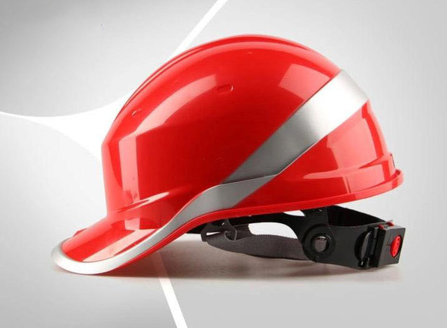 Deltaplus V venitex construction work safety helmet Anti-smash ABS insulating hard hat with phosphor stripes