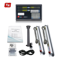 Complete Machine tool 2 Axis Digital Readout Dro Set/Kit and 2 PCS 5u Linear Glass Scales Linear Optical Ruler for Milling/Lathe