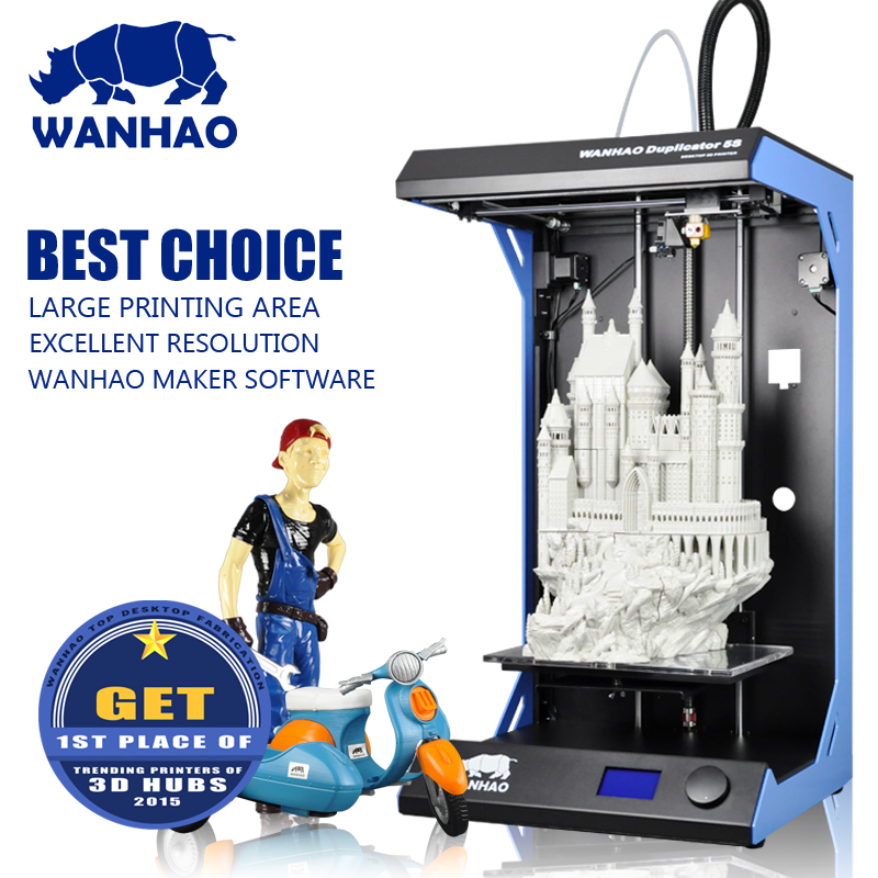 Big Printing Size 295 x 195mm WANHAO D5S 3D printer with High Precision,metal frame kit, Fast Speed 300mm/s, good satble quality cutting machine desktop mini micro precision small table saw diy woodworking saws small cutting machine