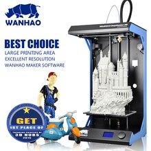 Большой печати Размеры 295×195 мм wanhao D5S 3D принтер с высокой точностью, металлический каркас, Быстрая Скорость 300 мм/сек., хорошее satble качество