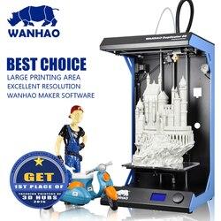 Duży druk rozmiar 295x195mm WANHAO D5S 3D drukarka o wysokiej precyzji  metalowe zestaw ze szkieletem  szybkość 300mm/s  dobra satelująca jakość