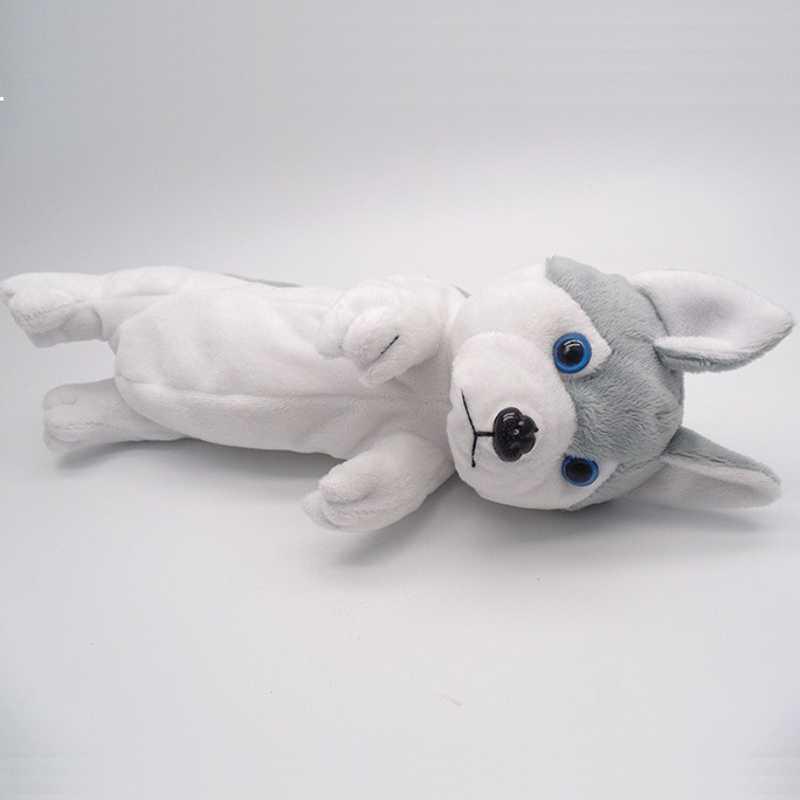 """Креативная милая собака набивной устойчивый пенал сумка ручка коробка Кукла """"Хаски"""" пенал"""
