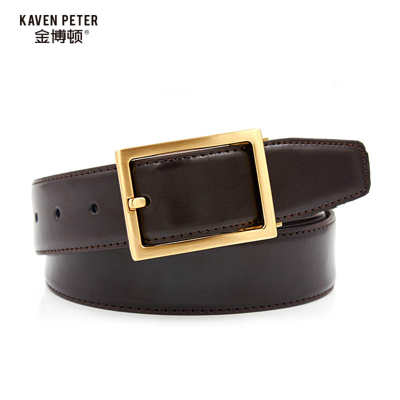 New Men/'s Croc Textured Dress Casual Leather Belt Black Blue Brown Brass Buckle