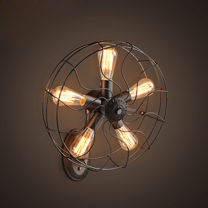 American country retro fan wall lamps european industrial vintage american country retro fan wall lamps european industrial vintage wall lights fixture home indoor lighting cafes aloadofball Gallery