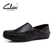 Clax Moccasins Men Flat Loafer Shoes Casual Leather Driving Shoe Italian for Man Fashion Shoe Slip On