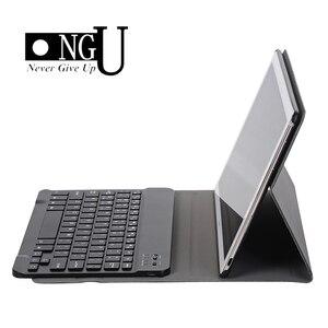 Image 1 - Lüks Klavye Kılıf Huawei MediaPad M5 10 10.8 deri kılıf Standı Bluetooth klavye tablet kılıfı için Huawei M5 Pro 10.8