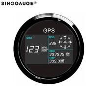Черный 3 3/8 цифровой GPS Спидометр Бесплатная доставка общий пробег Регулируемый GPS отмостки одометром компенсации