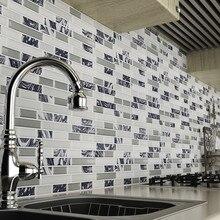 3D самоклеящиеся настенные Плитки умный Плитки блеск мозаика настенная Self клейкие плитки в ретро-стиле DIY ПВХ Водонепроницаемый самоклеящиеся настенные наклейки