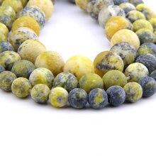 3bac22683c8a Natural piedra turquesas de Gema piedra cuentas mate ronda perlas 4 6 8 MM  10 MM 12 MM para la fabricación de la joyería DIY pul.