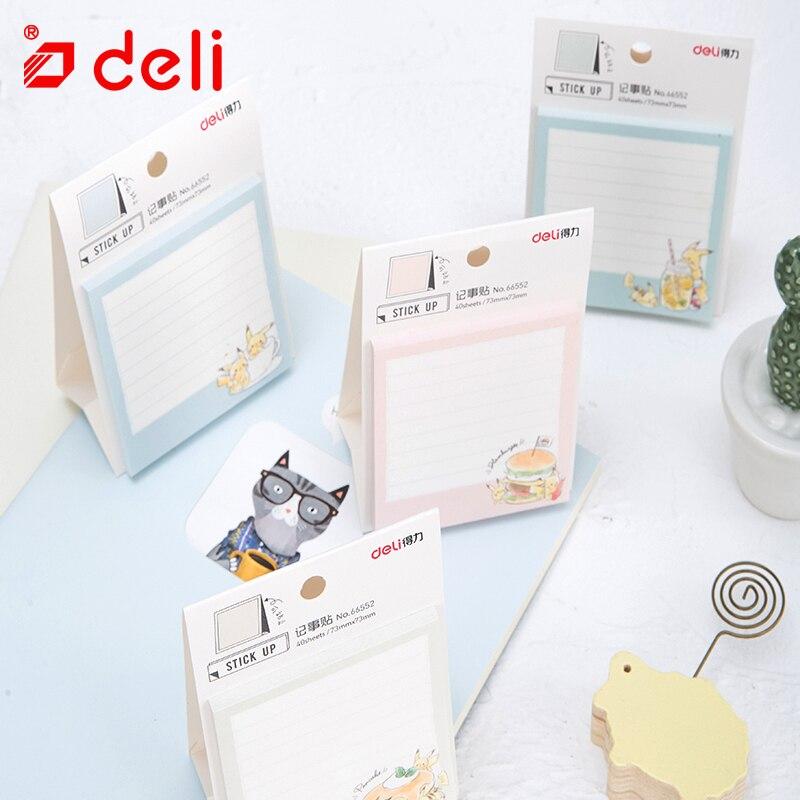 Deli Pikachu Aufkleber Nette Memo Papier Muster Studenten Briefpapier Hinweis Selbst-adhesive Mini Memo Pad Schule & Büro 66552