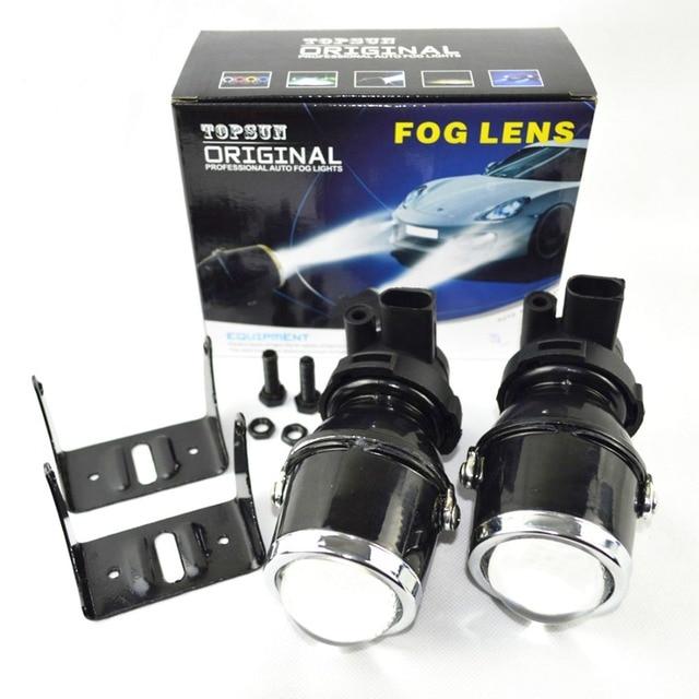 Safego Kit de lentilles de projecteur H3 feux de brouillard à LED pour voiture, lumière anti brouillard haute puissance 12V, 35W