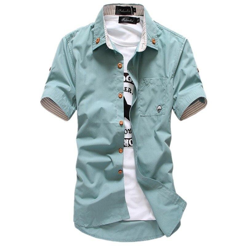Летняя мужская рубашка с коротким рукавом