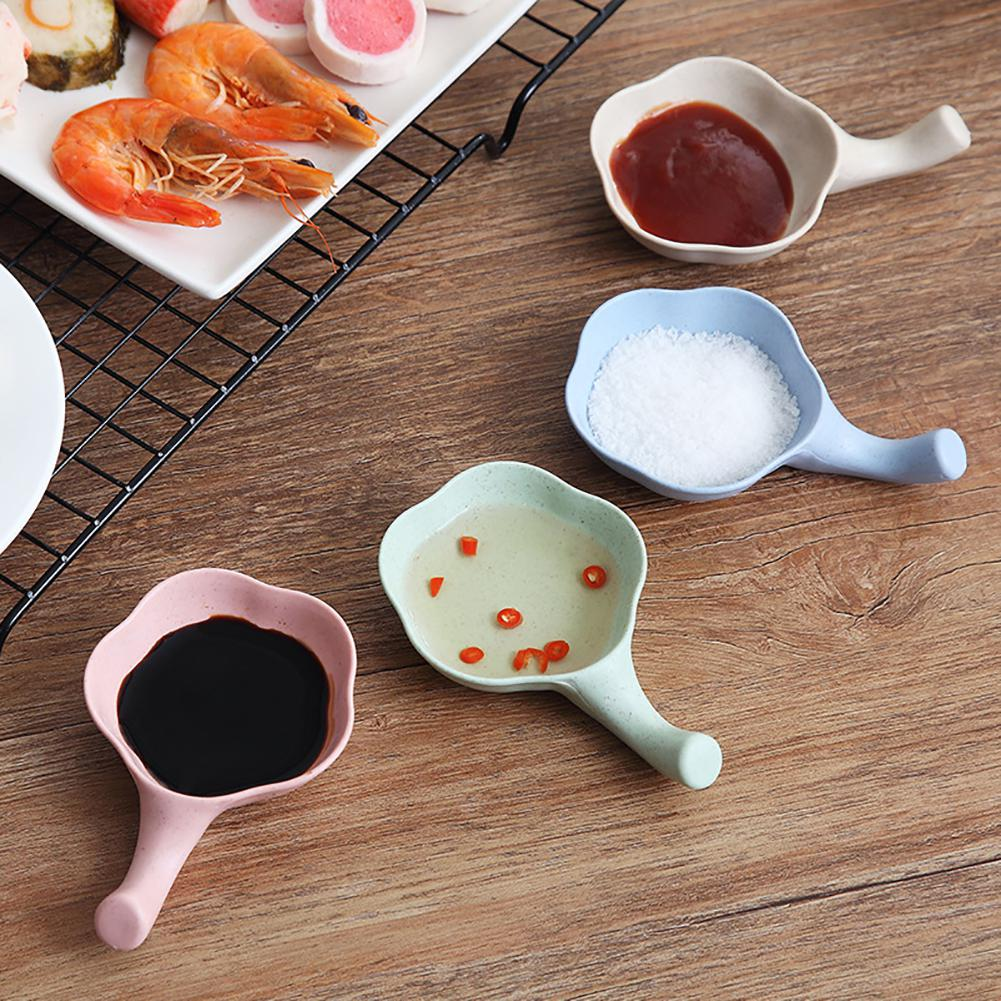 4Pcs Plates Creative Leaves Bowl Dish Multifunctional Dinnerware Spice Dishes