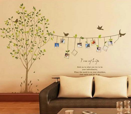 Diy nature green memory tree Wall Stickers 120*86cm vivid photo ...