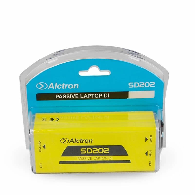Alctron SD202 Passive Direct Box, Stereo DI box Mono for Acoustic Guitar,Bass,Keyboard Noise Canceling