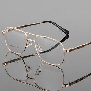 Image 3 - Mode Retro Metall Große Box Runde Brille Rahmen Myopie Männer Brillen Optische Verordnung Doppel Brücke Brillen