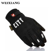Unisex Motorcycle Gloves Night Vision Reflection Gloves Touch Screen Full Finger Racing Guantes Black M L XL XXL